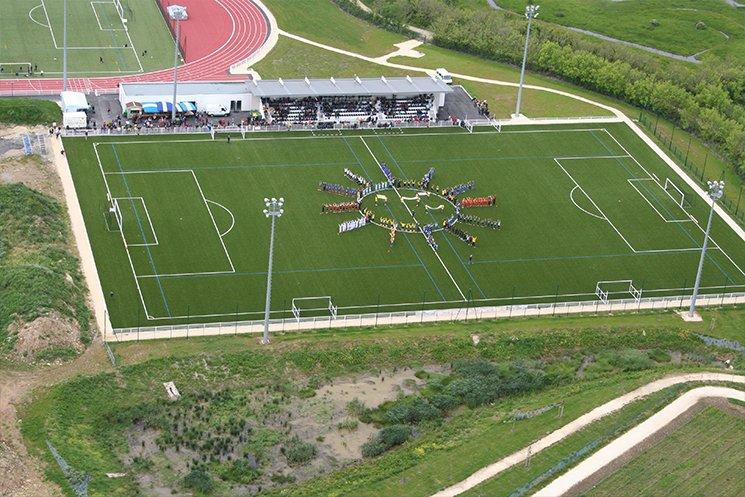 complexe sportif vue aérienne